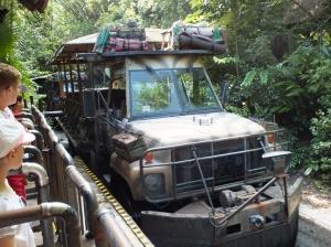 Safari vehicle at Animal Kingdom.