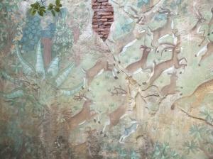 Wall detail in the Asian deer enclosure.