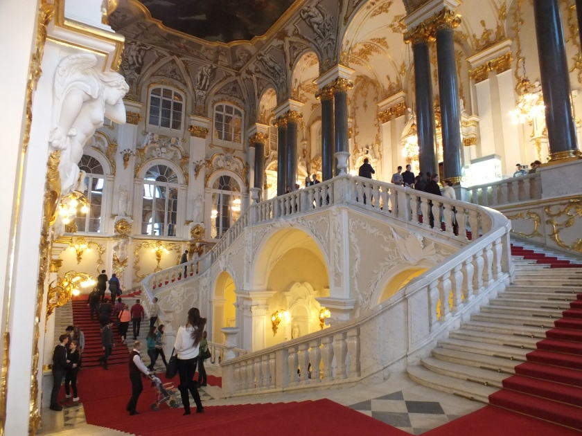The Jacob Staircase inside the Winter Palace.