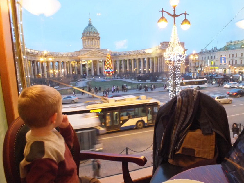 View of the Kazan Cathedral from Cafe Singer.