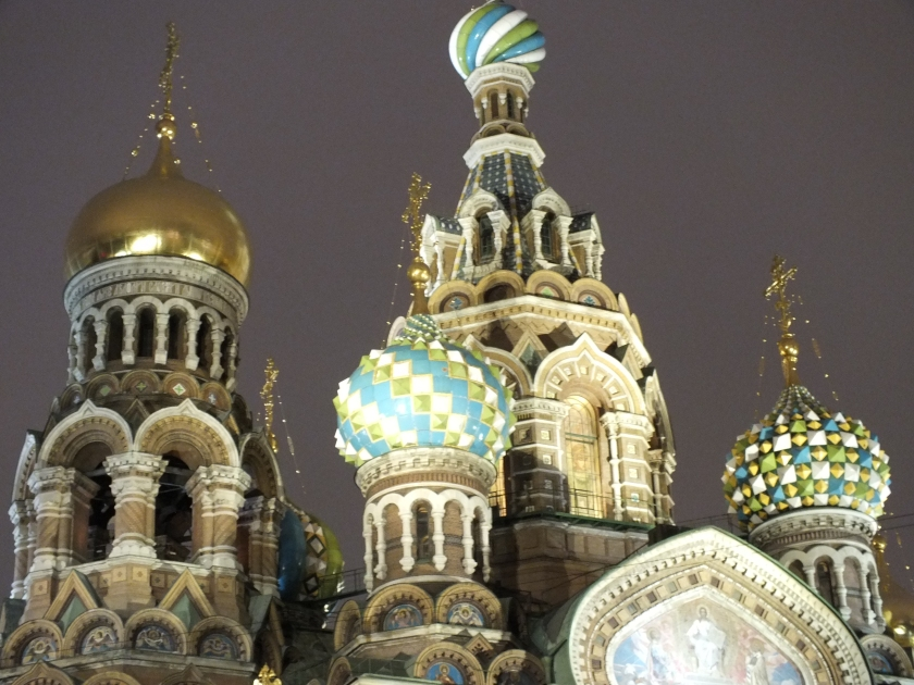 The top of the Church of the Savior on Spilled Blood.