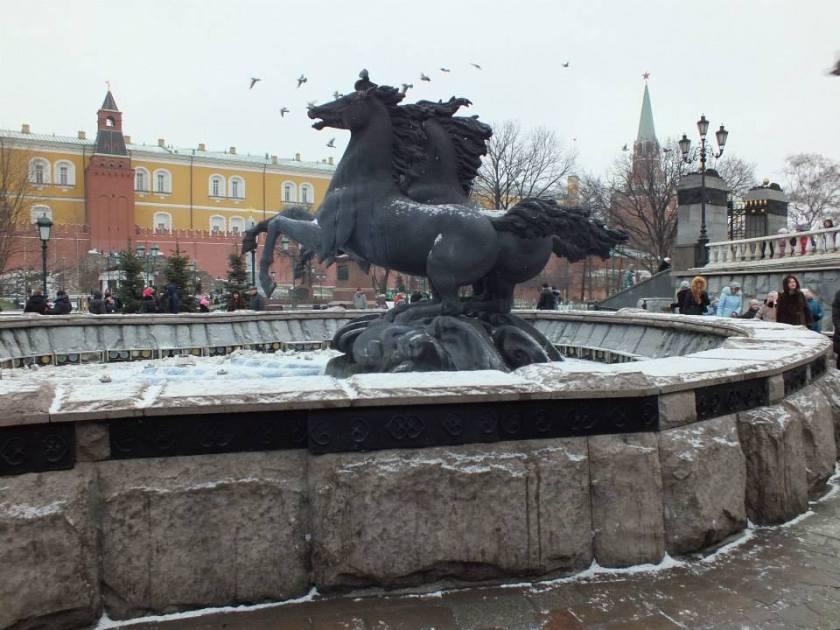 Outside the Kremlin wall.