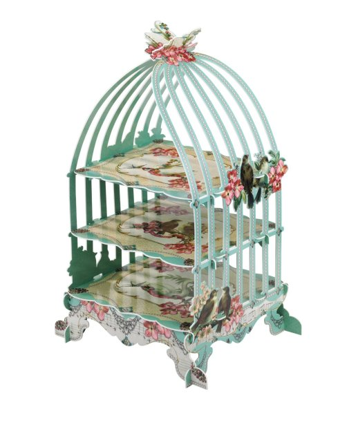 Cute birdcage paperboard.