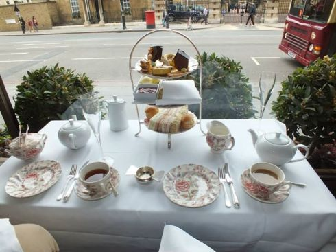 A window seat for afternoon tea.