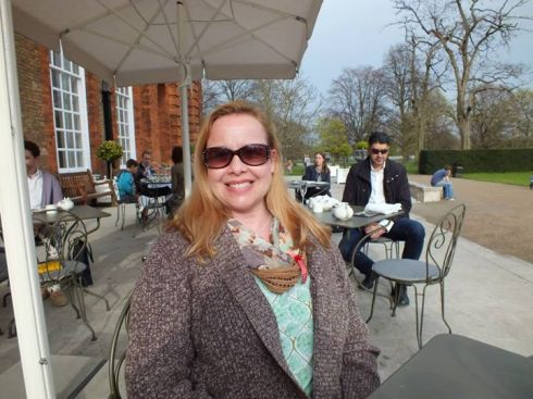 Me at afternoon tea at the Orangery.