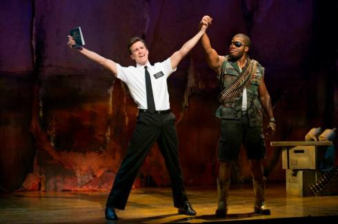 Production still from The Book of Mormon.