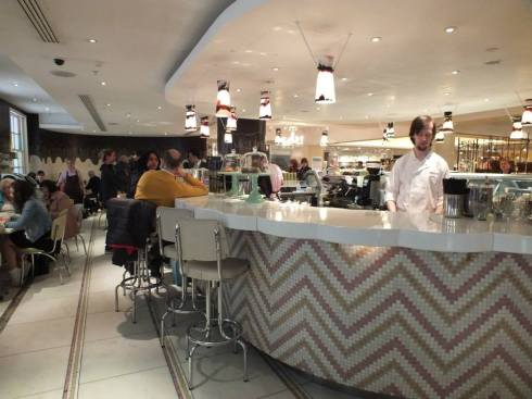 The ice cream parlour at Fortnum & Mason.