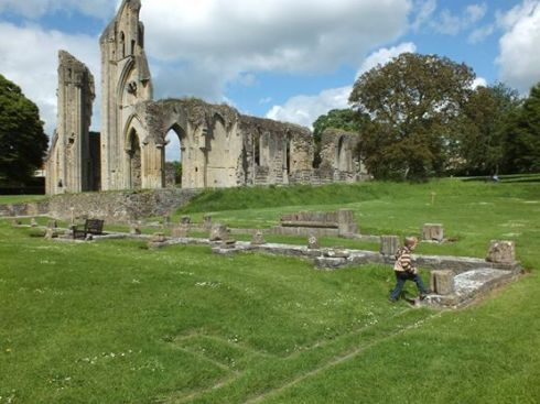 The ruins of Glastonbury Abbey.
