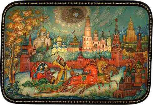 Winter Troika in Moscow by Strunin Mikhail.