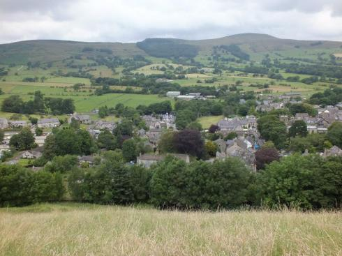 View of Castleton from Peveril Castle.