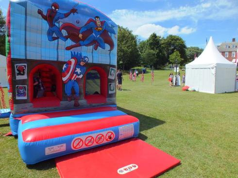 One of the two bouncy castles.