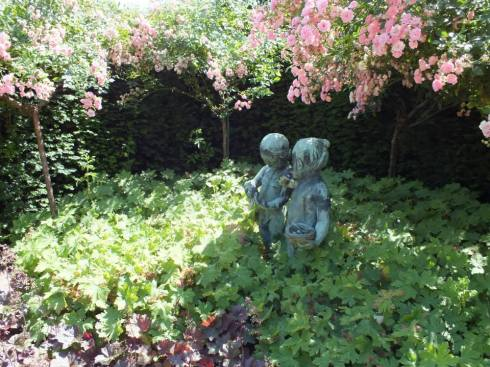A lovely sculpture in the gardens.