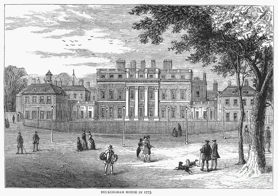 Buckingham House As It Appeared In 1775 Wood Engraving C1875 By