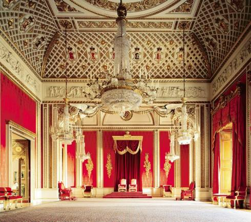 The Throne Room (courtesy Royal website).