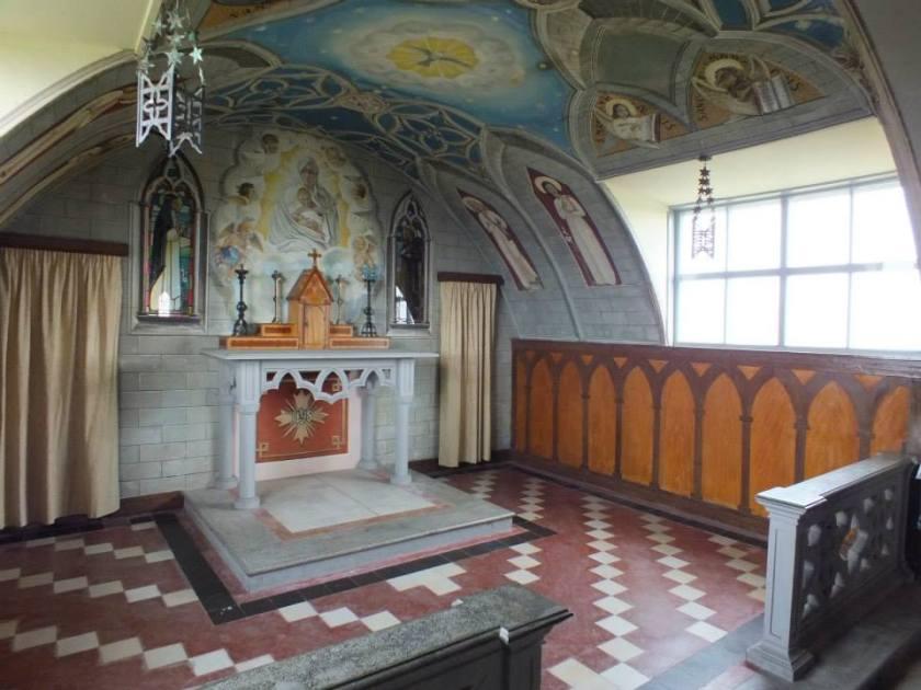 Interior of the Italian chapel.