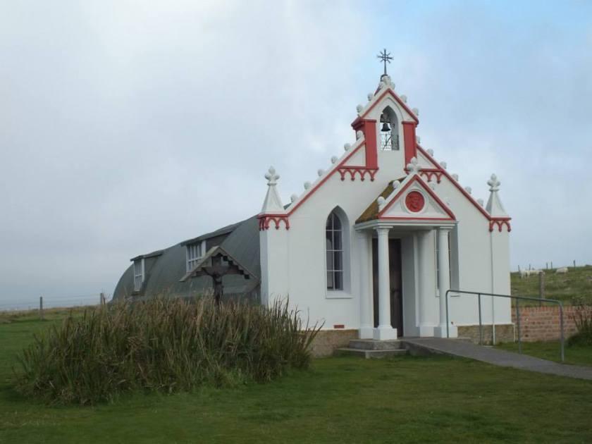 Exterior of the Italian chapel.