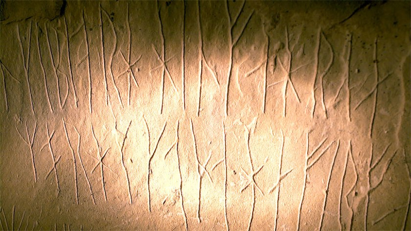 Close up of runes borrowed from the internet.