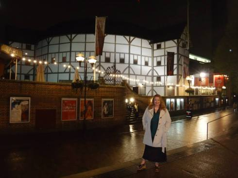 Me in front of Shakespeare's Globe Theatre.