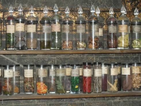 Just a few of the MANY potion bottles.