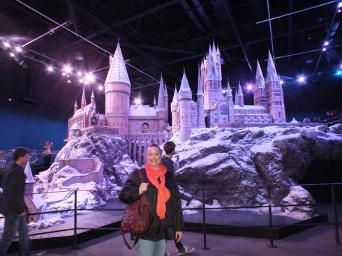 Me in front of Hogwarts!