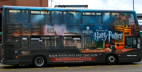 The Harry Potter bus from London.