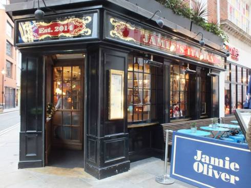 Jamie Oliver's restaurant off of Piccadilly Circus.