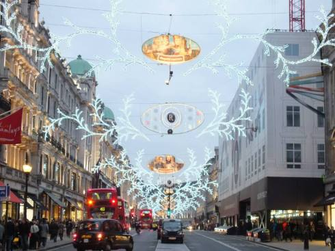 Lights on Regent's Street.