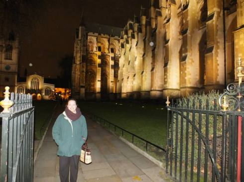 Me in front of Westminster Abbey.