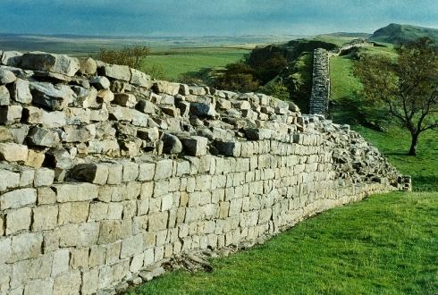 Hadrian's Wall at Walltown Crags.