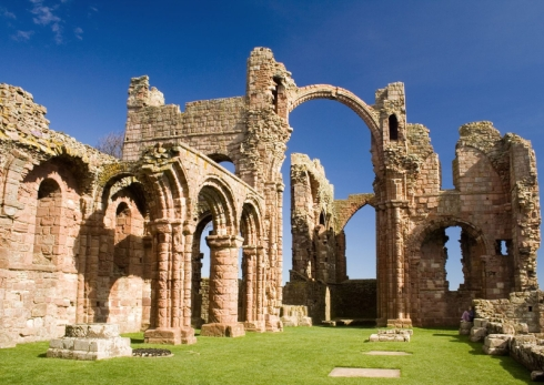 he ruins of Lindisfarne Priory.
