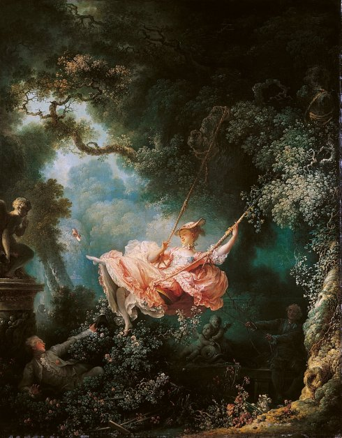 """The Swing"" by Jean-Honoré Fragonard, 1767."