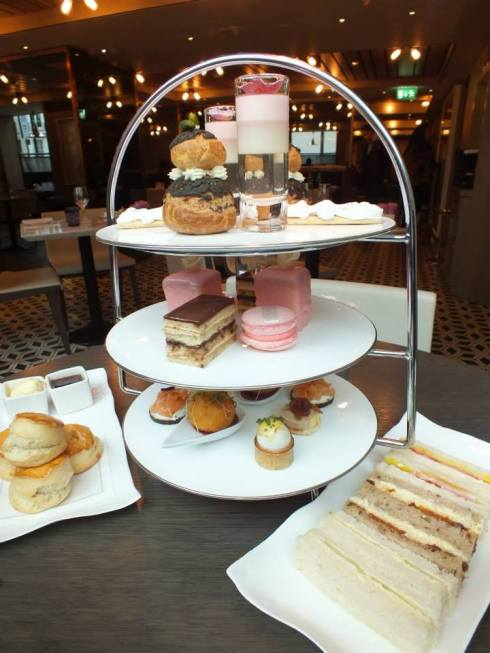 The fantastically colorful Marie Antoinette Afternoon Tea.