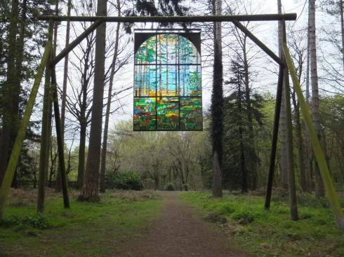 """The Cathedral"" on the Sculpture Trail in the Forest of Dean."