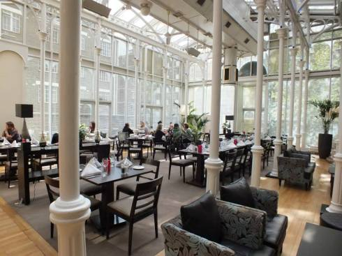 The Victorian conservatory at the Hilton Euston.