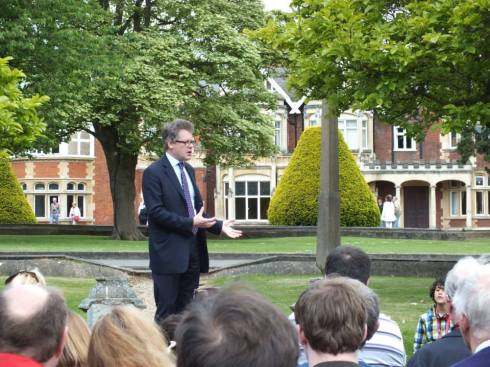 Sir Dermot Turing, Alan Turing's nephew and Bletchley Trust trustee.