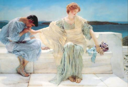 "My favorite piece by Alma Tadema - ""Ask Me No More"" painted in 1906."