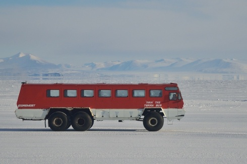 Ivan the Terra Bus. Specialized passenger transport vehicle manufactured by Foremost (Canada) that resides at McMurdo Station and is part of the US Antarctic Program fleet.