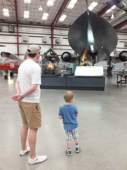 N and A checking out the Lockheed SR-71 Blackbird.