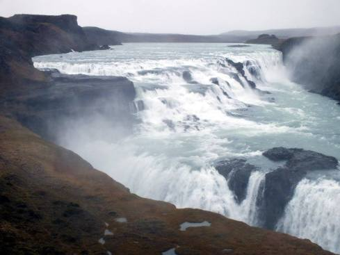 Gulfoss Waterfall.