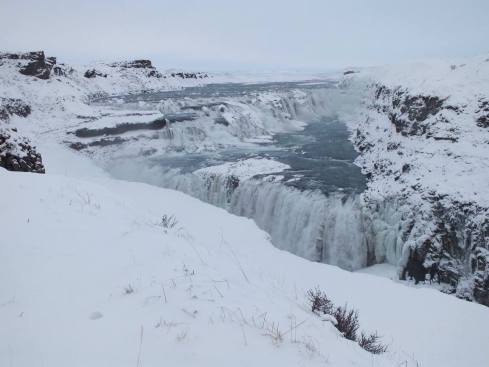 Gulfoss Waterfall beautiful in the snow!