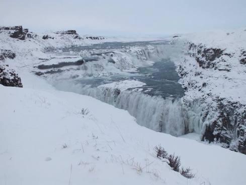 Gulfoss Waterfall beautiful in the snow!