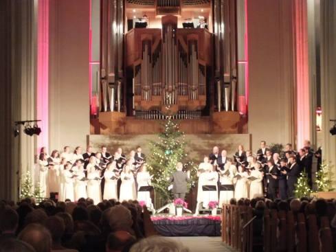 Christmas Choir Concert at the Hallgrimskirkja.