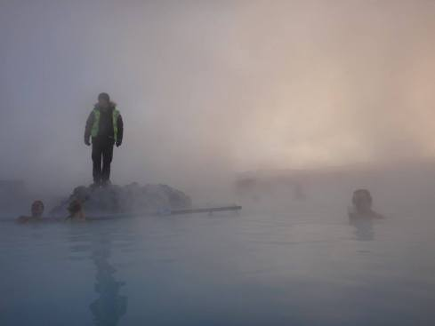 Steamy scene at the Blue Lagoon.