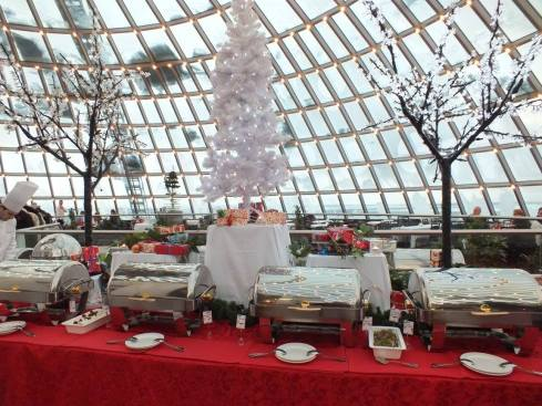 Christmas buffet at the Pearl.