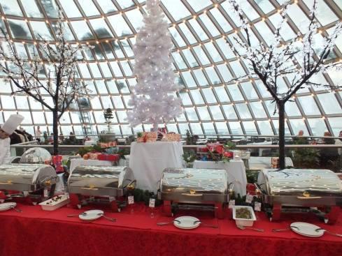 Christmas buffet at the Pearl.
