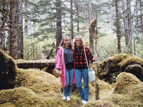 Me and Mom in Southeast Alaska, 1988.