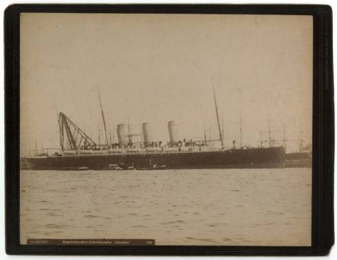 "Transatlantic passenger ship ""Columbia."""