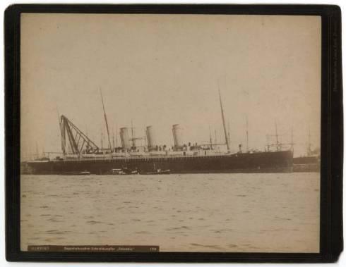 "Transatlantic passenger ship ""Columbia."""
