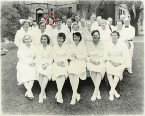 Photo of hospital nurses, 1948. Source: Napa Valley Marketplace Magazine.
