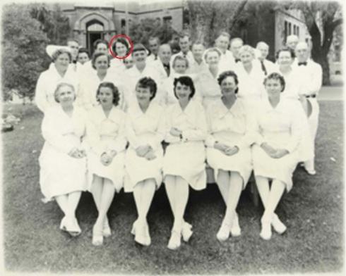 Photo of hospital nurses, 1948. Source: Napa Valley Marketplace Magazine.